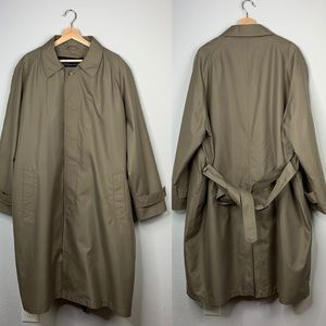 Chaps Belted Tan Trench Coat w/ Removable Liner